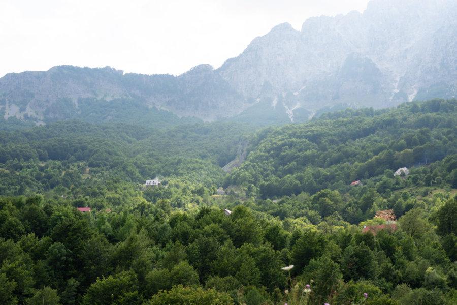 Paysage à Theth en Albanie