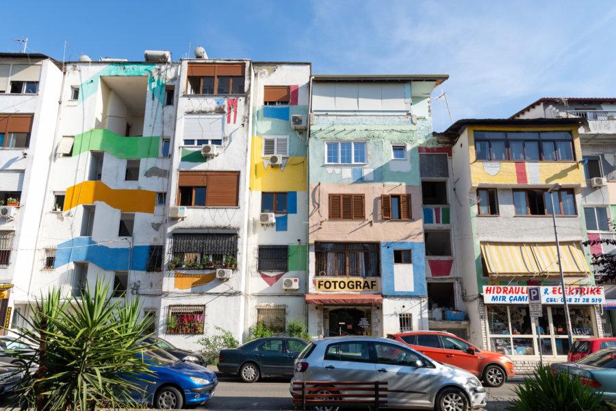 Quartier Blloku à Tirana, Albanie