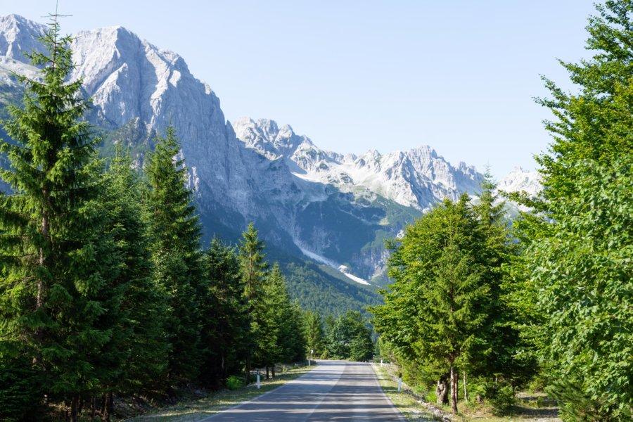 Montagnes à Valbona en Albanie