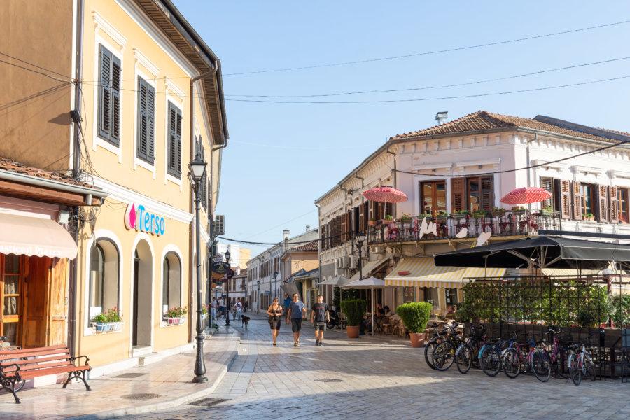 Ville de Shkodra en Albanie