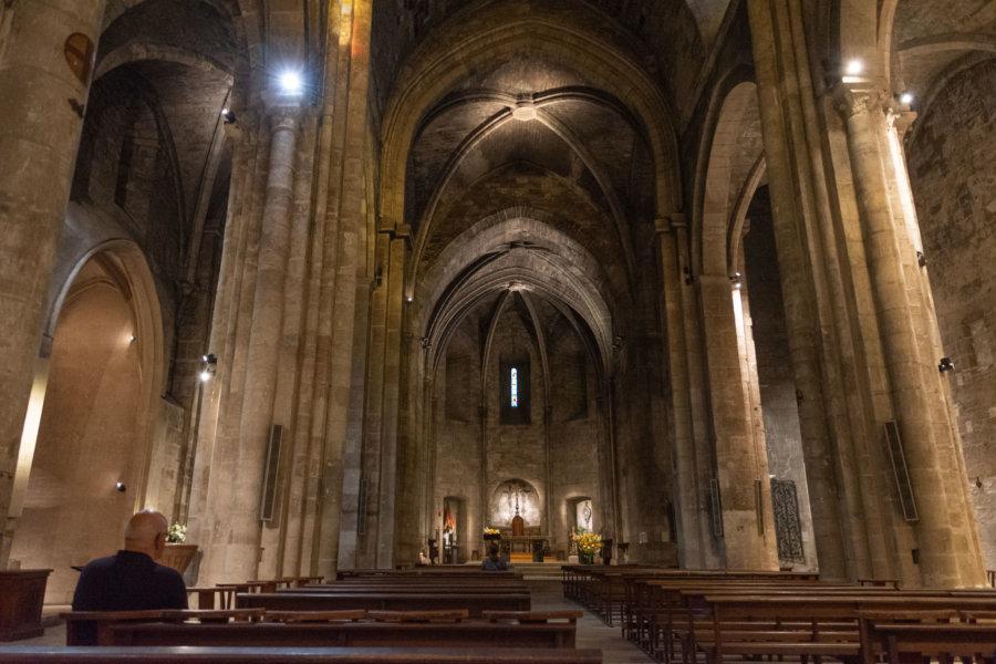 Intérieur de l'abbaye Saint-Victor à Marseille