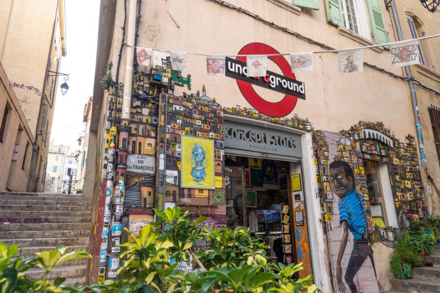 Boutique dans le Panier à Marseille
