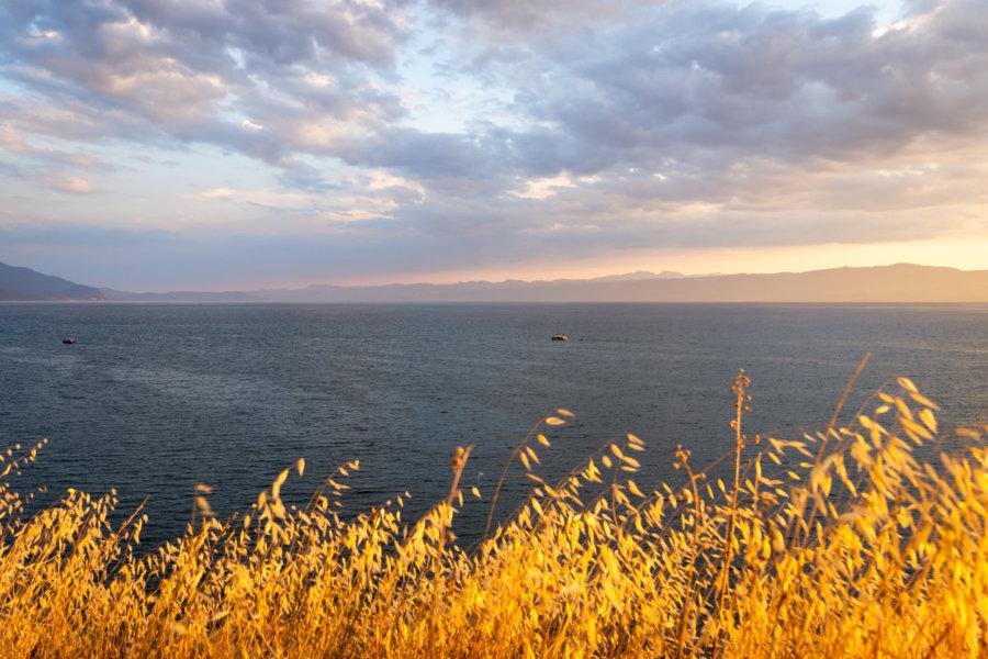 Coucher de soleil flamboyant à Ohrid