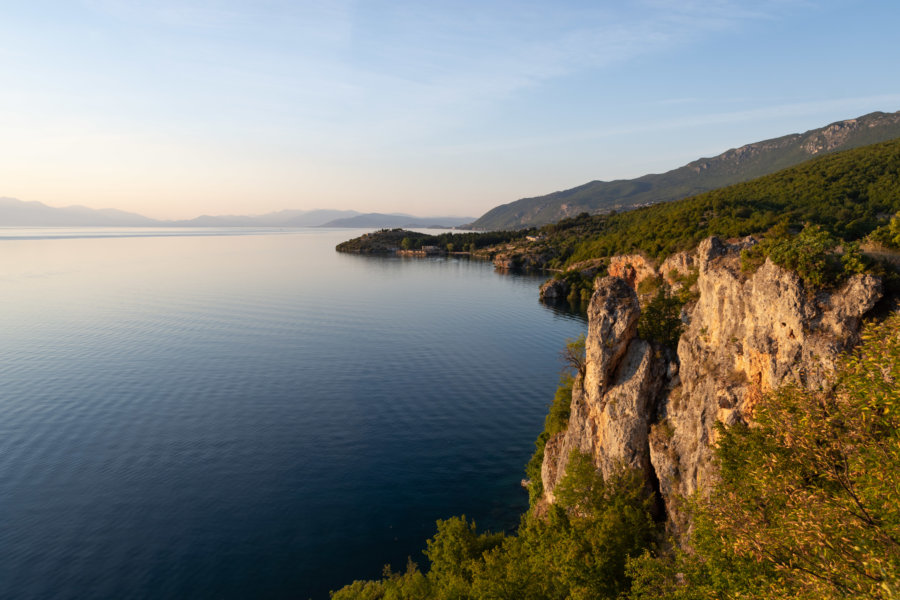Coucher de soleil sur le lac d'Ohrid
