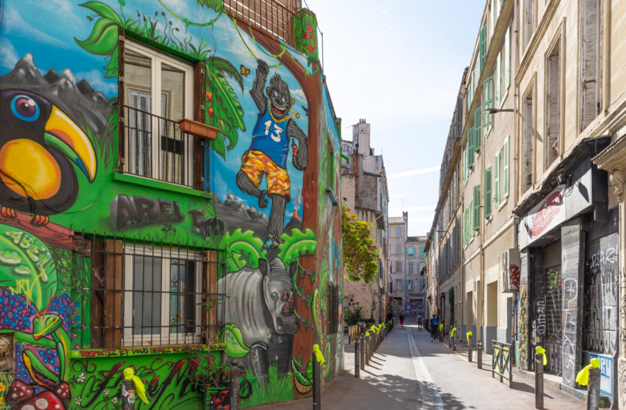 Street au Cours Julien à Marseille