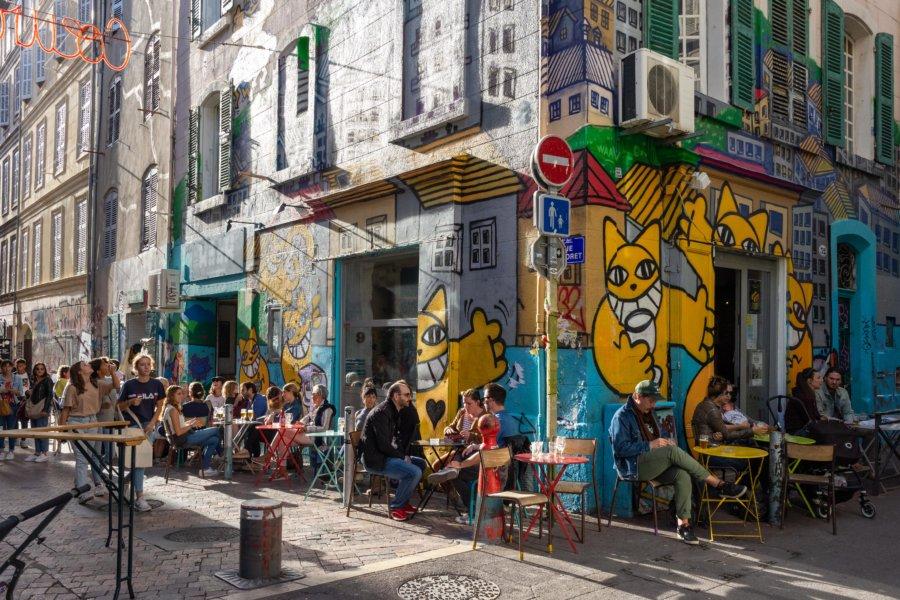 Terrasse au Cours Julien à Marseille