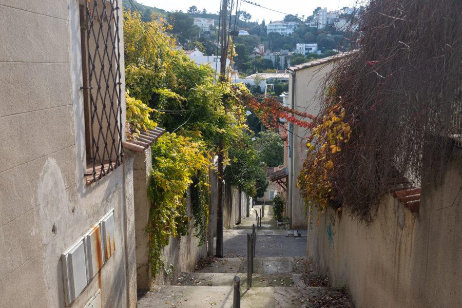 Ruelle du quartier d'Endoume à Marseille
