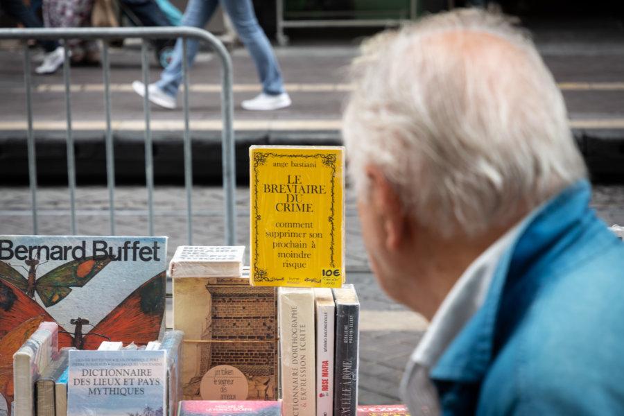 Vente de livres sur la Canebière