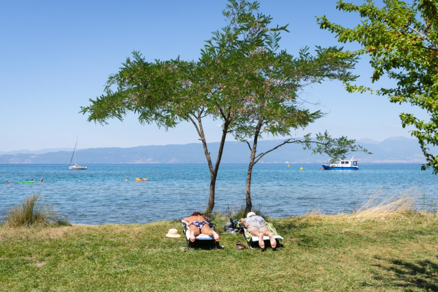 Gorica beach à Ohrid