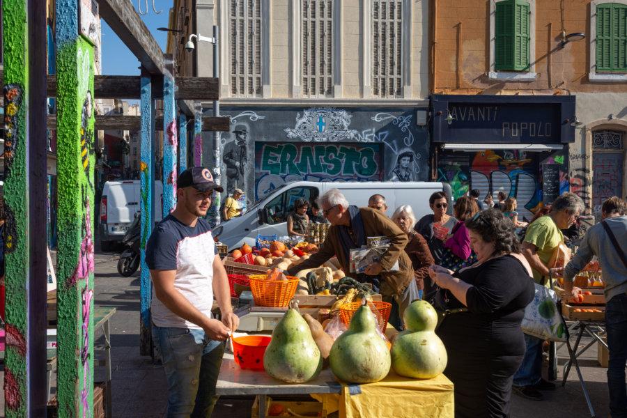 Marché bio au Cours Julien, Marseille