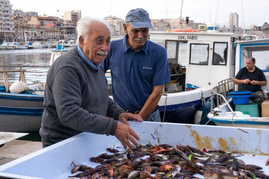 Marché aux poissons du vieux port