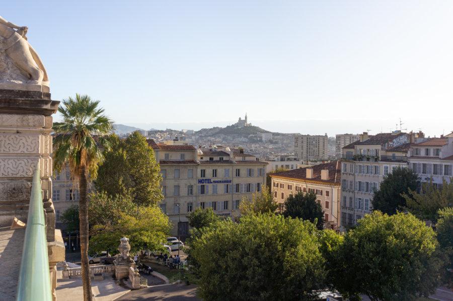 Vue sur Marseille depuis la gare Saint-Charles