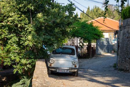 Vieille voiture à Ohrid
