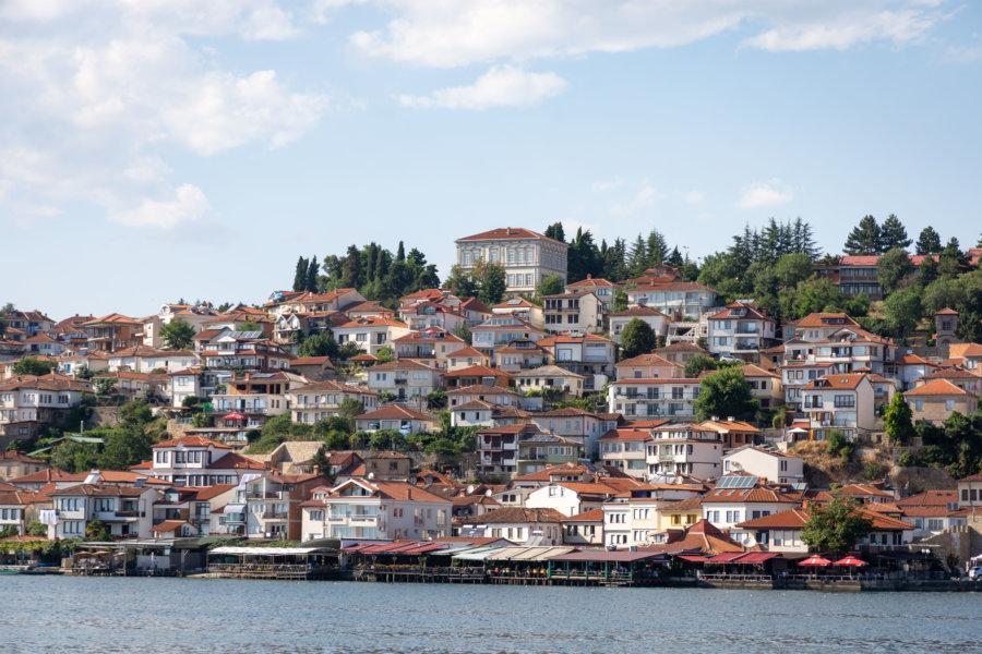 Ville d'Ohrid en Macédoine du Nord