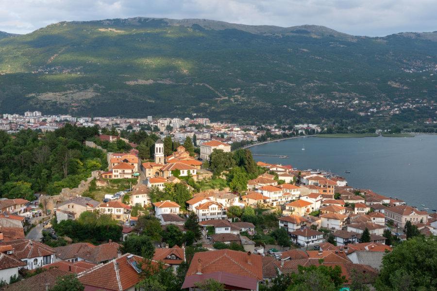 Vue sur Ohrid depuis la forteresse