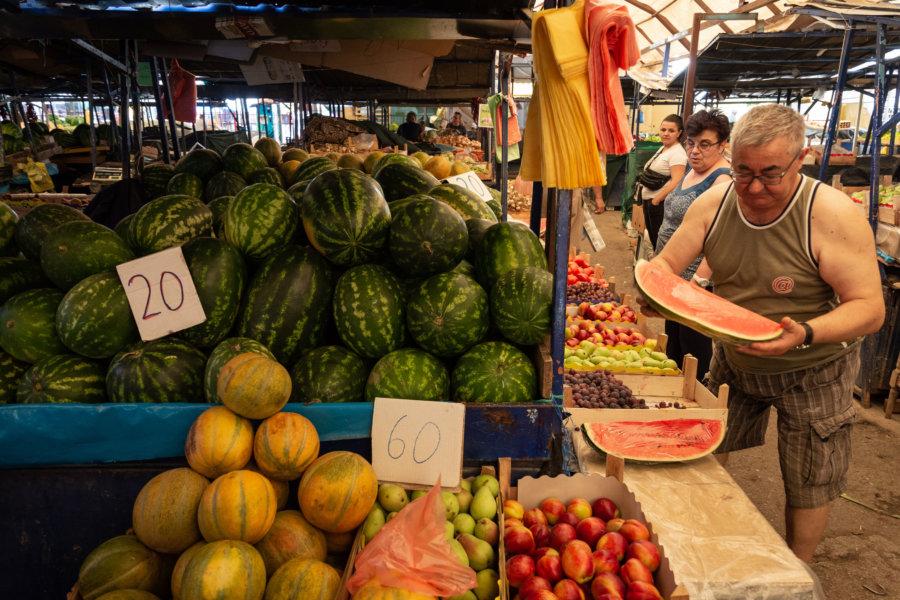 Pastèques au marché d'Ohrid
