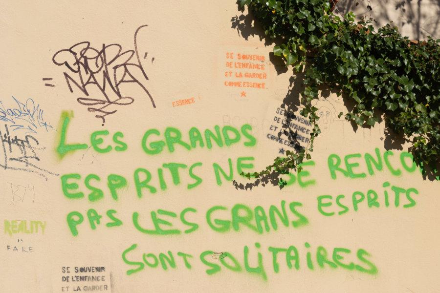 Phrase philosophique à Marseille