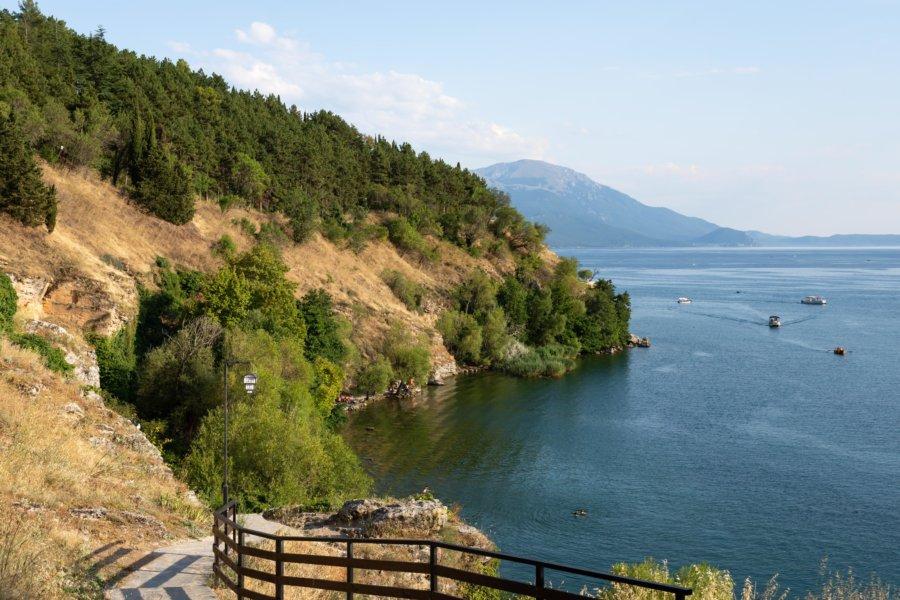 Plage de Labino à Ohrid