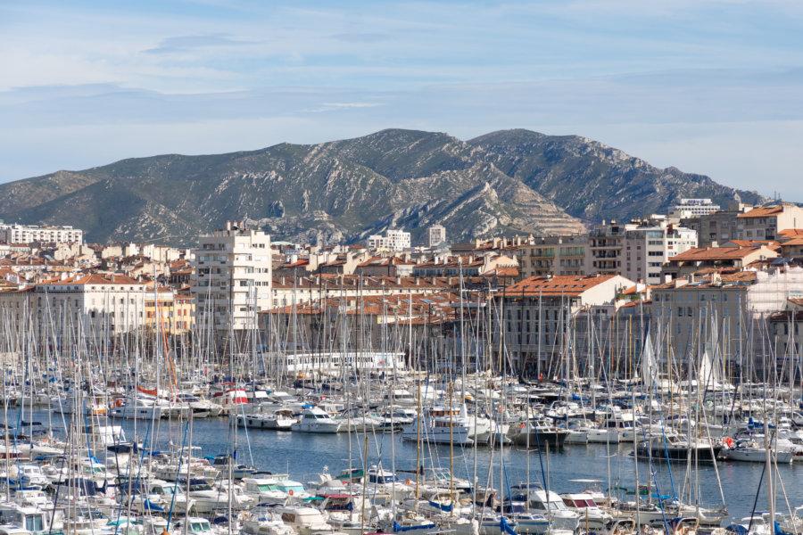 Vue sur le port de Marseille