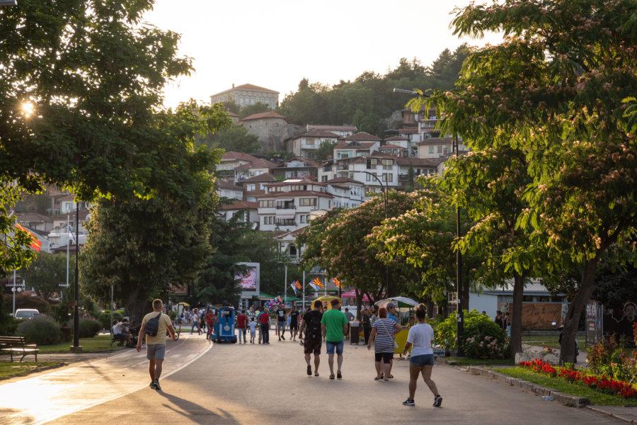 Promenade dans la ville d'Ohrid