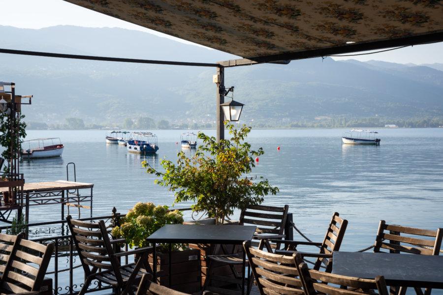 Restaurant avec vue, Kaneo à Ohrid
