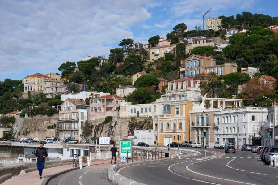 Roucas Blanc et la Corniche à Marseille