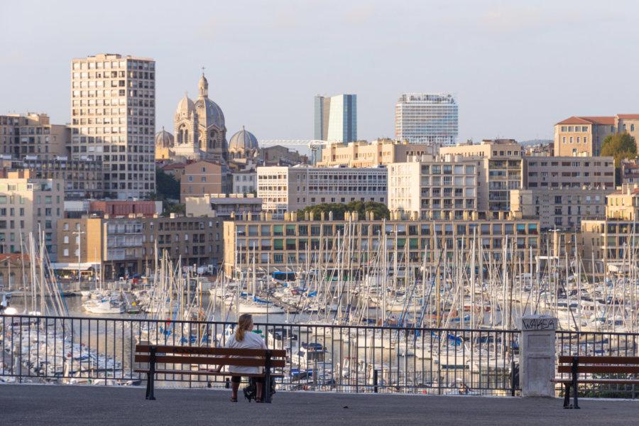 Vue sur Marseille depuis Saint-Victor