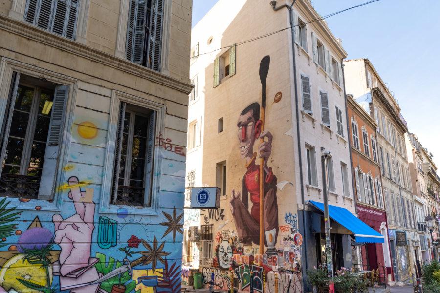 Street art au Cours Julien, Marseille