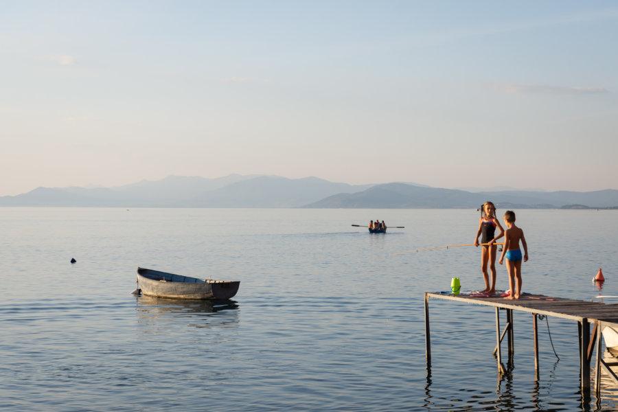 Trpeytsa au lac d'Ohrid, Macédoine