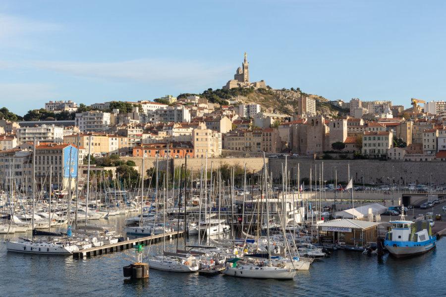 Vieux Port et Bonne Mère à Marseille