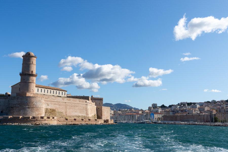 Vue sur Marseille depuis la mer