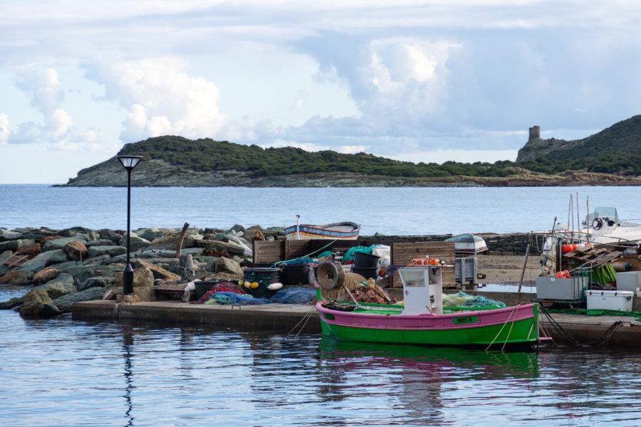 Bateau à Barcaggio, Cap Corse