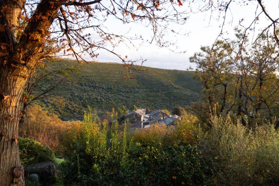 Cagnano, village corse à l'automne