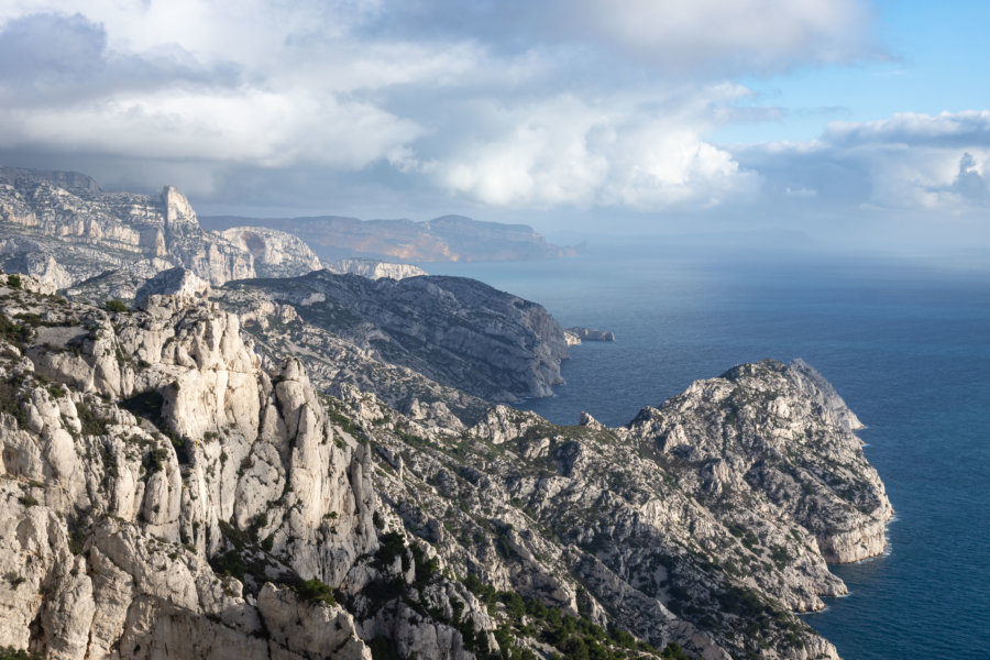 Les calanques de Marseille en hiver