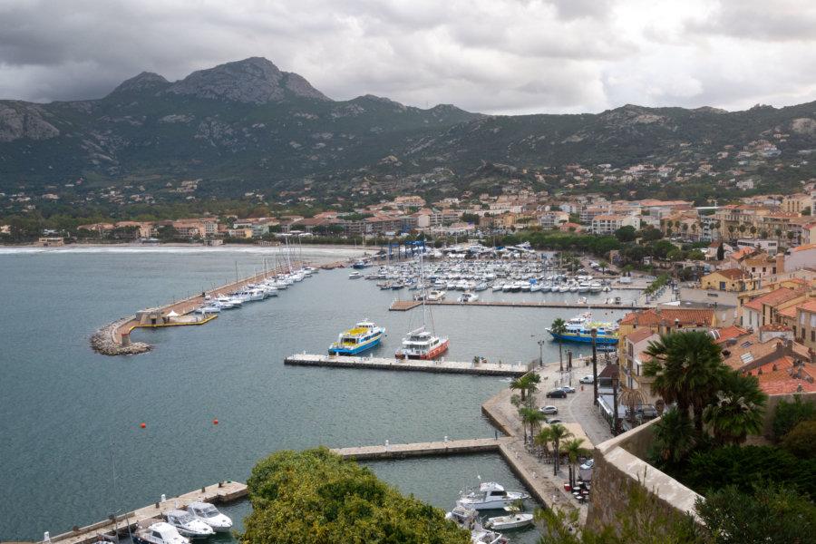 Vue sur Calvi depuis la citadelle, Corse