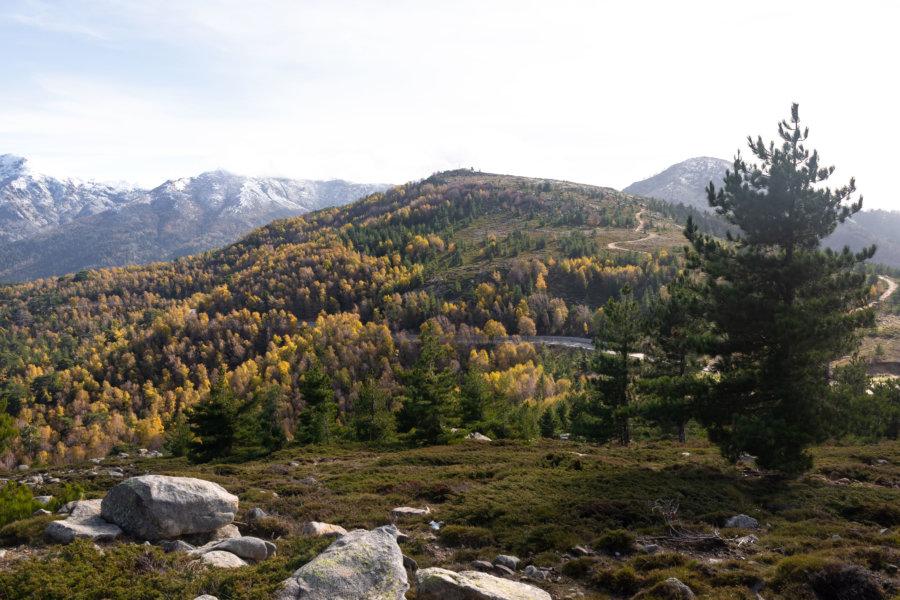 Col de Vergio, montagne corse à l'automne