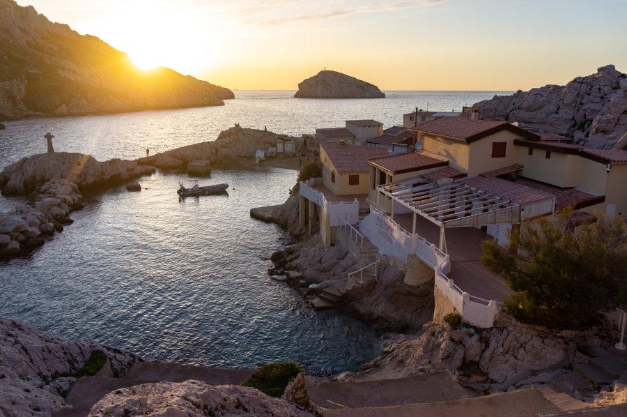 Coucher de soleil au Cap Croisette, les Goudes, Marseille