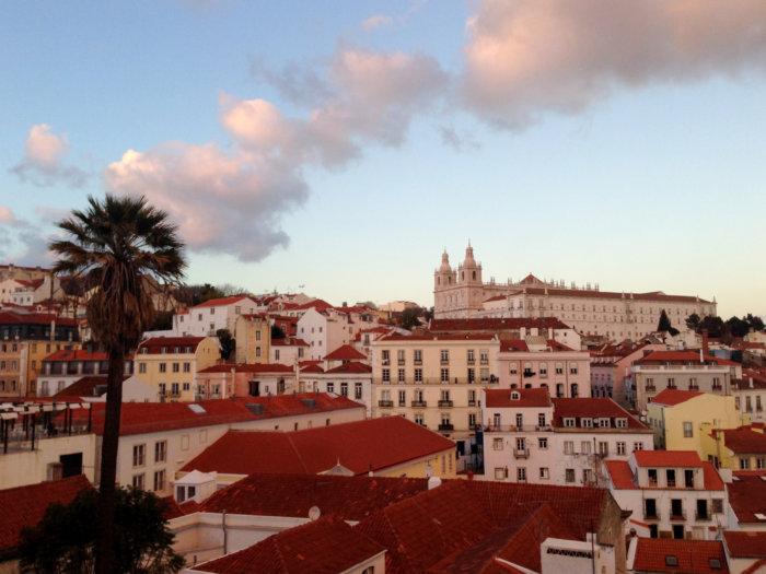 Coucher de soleil à Lisbonne, Portugal