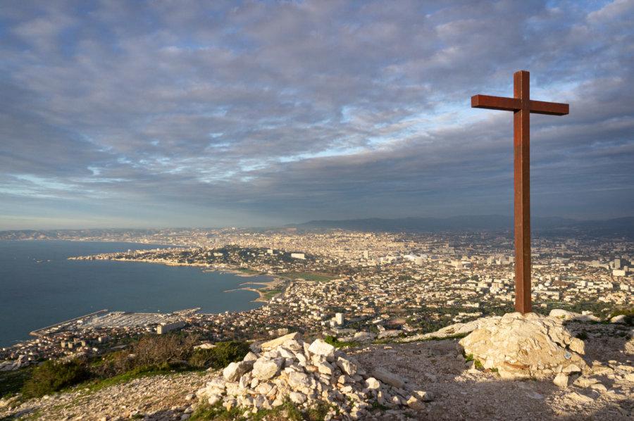 Vue sur Marseille depuis la Croix Pastré