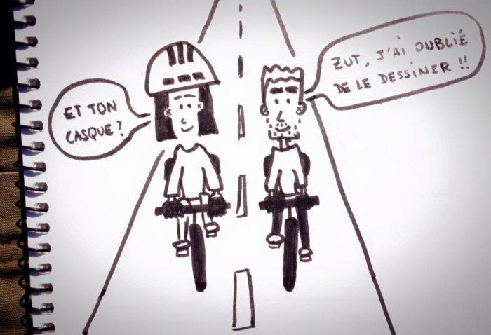 Dessin casques de vélo