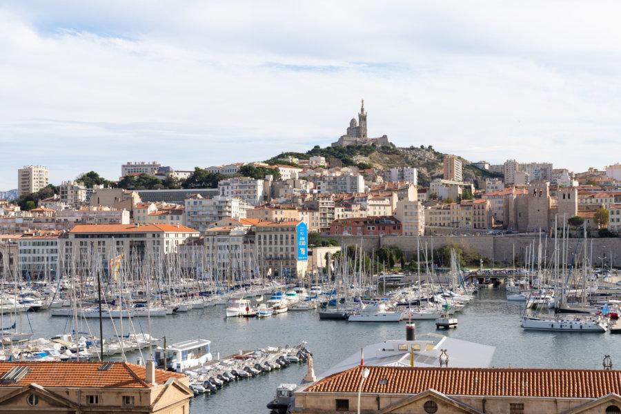 Plus belle vue à Marseille : esplanade de la Tourette