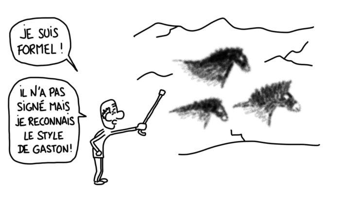 Dessin : la grotte de Cosquer