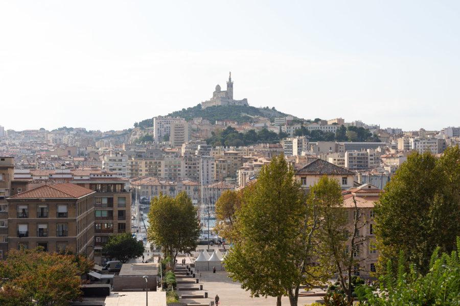 Point de vue depuis l'hôtel continental à Marseille