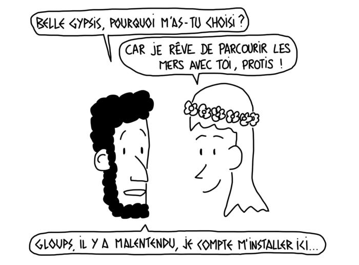 Dessin : Gypsis et Protis, la fondation de Marseille