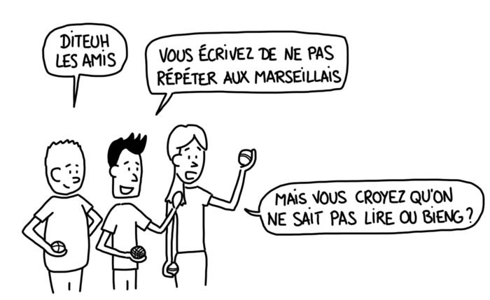 Dessin : eh oh, les Marseillais savent lire !