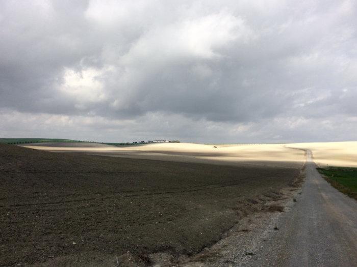 Plaine d'Andalousie l'hiver