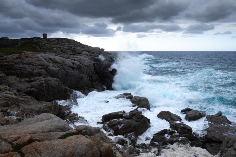 Pointe de Spano par mauvais temps