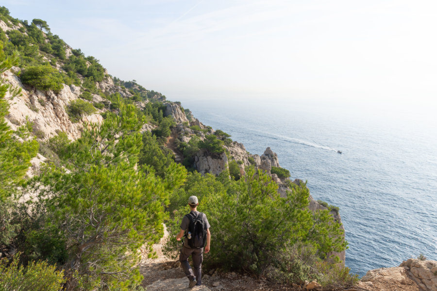 Randonnée sur la côte bleue à Niolon