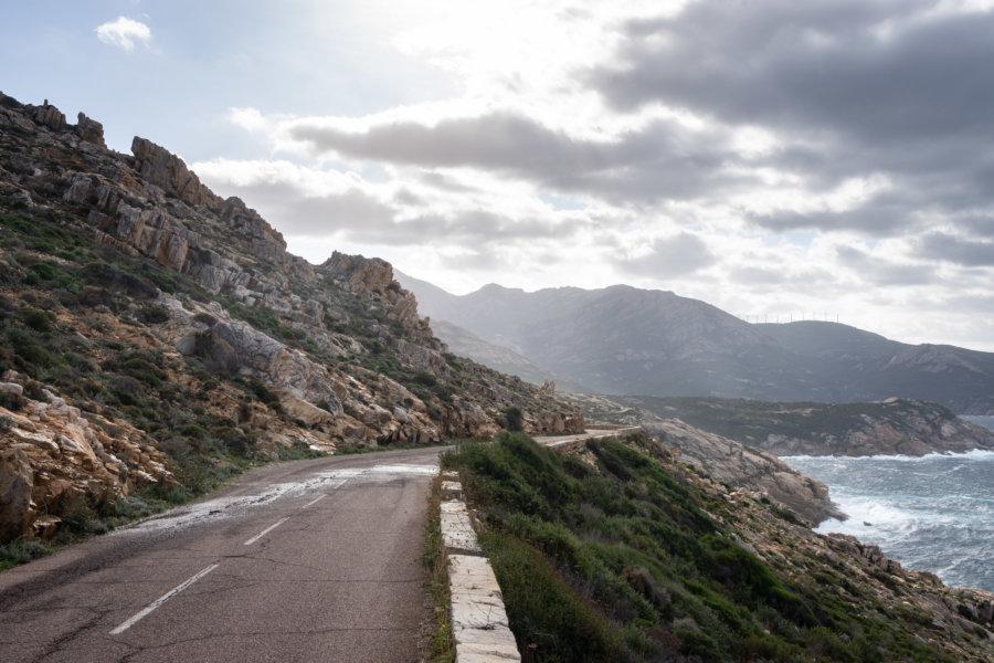 Route de Calvi à Piana en Corse