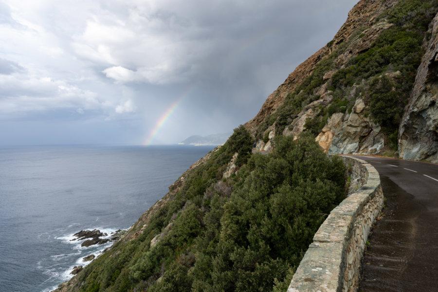 Route du Cap Corse à l'automne